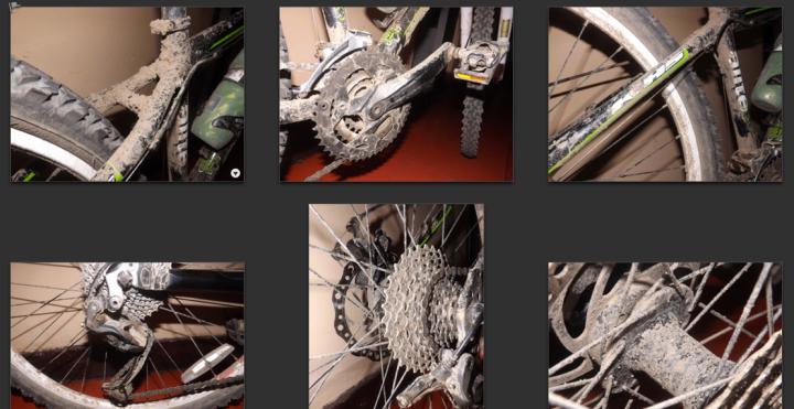 Así se veía mi bici cada domingo por la noche, cuando volvía a casa luego de una aventura