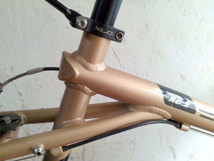 El triple triángulo reforzado. Una joya para los cicloturistas.